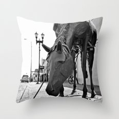 Urban horse Throw Pillow