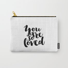 Nursery Decor You Are So Loved Nursery Printable Typographic Wall Art Typography Phrase Mini Learner Carry-All Pouch