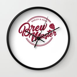 Funny Brew Master product | IPA Craft Beer Home Brewing Wall Clock