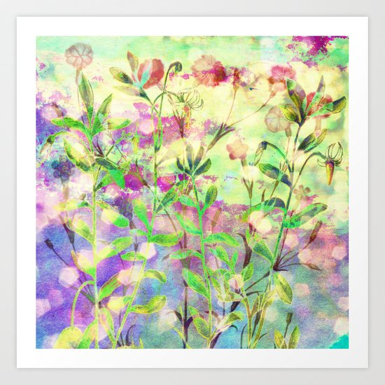 simple flowers Art Print