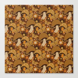 Mushroom Stitch Canvas Print