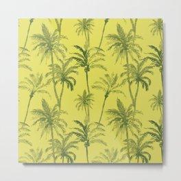 Palm Trees Desert Pattern Metal Print
