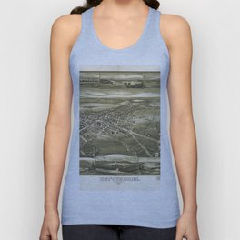 Vintage Pictorial Map of Gettysburg PA (1888) Unisex Tank Top