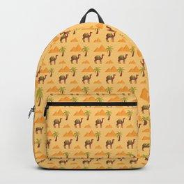Camels in the desert Backpack