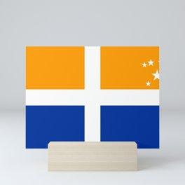 Scillonian cross flag united kingdom region symbol Mini Art Print