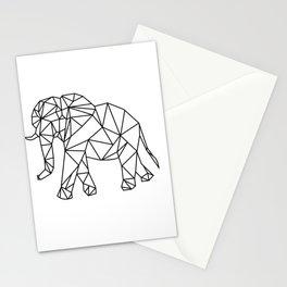Elephant Geometry Pattern Art Stationery Cards