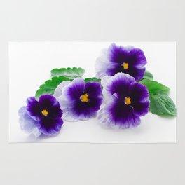 beautiful purple pansy Rug