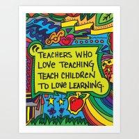 Love to Learn Art Print