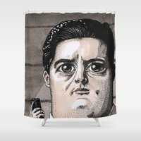 dale cooper Shower Curtains featuring Dale Cooper by Drawn by Nina