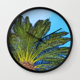 Palm Tree Fronds Wall Clock