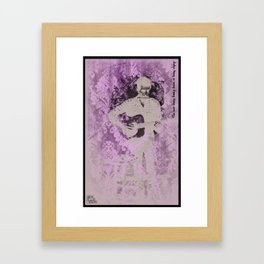 Get Busy. Framed Art Print