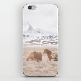 WILD AND FREE 3 - HORSES OF ICELAND iPhone Skin