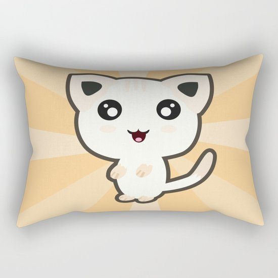 Kawaii Cat Rectangular Pillow