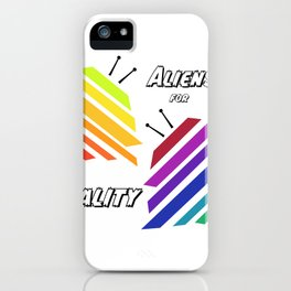 Aliens for Equality iPhone Case