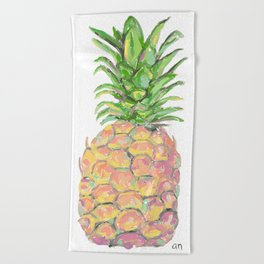 Brite Pineapple Beach Towel