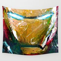 ironman Wall Tapestries featuring IRONMAN by DITO SUGITO