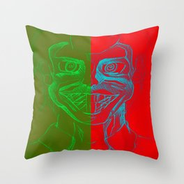 Split Personality; The Joker and Two Face Throw Pillow