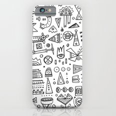 Triangle doodles iPhone 6s Slim Case