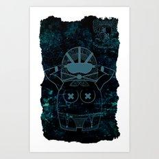 Blueprint Wise (background) Matryoshka / Nesting Doll Art Print