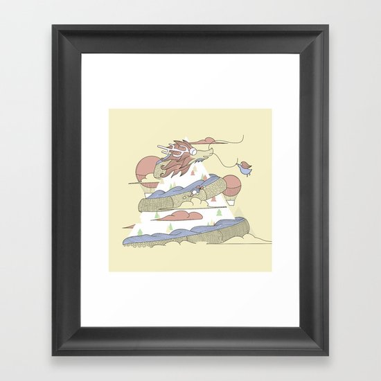 Dragon ride Framed Art Print