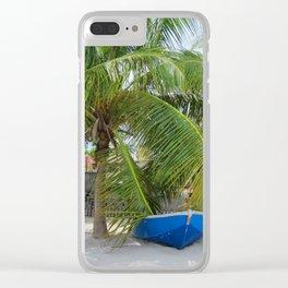BLUE CARIBBEAN BOAT Clear iPhone Case
