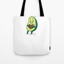 Cartoon Avocado Illustration Tote Bag