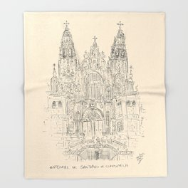 Cathedral of Santiago De Compostela Throw Blanket