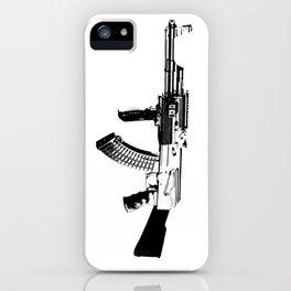 BLACK AK 47 iPhone Case