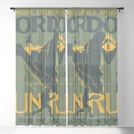 FUN RUN Sheer Curtain