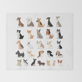 Dog Overload - Cute Dog Series Throw Blanket