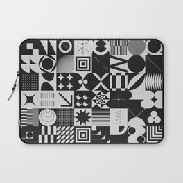 Simple geometric abstract  pattern with simple shapes and monochrome colors Laptop Sleeve