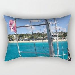 Barbados Saint James Beaches Photograph Rectangular Pillow