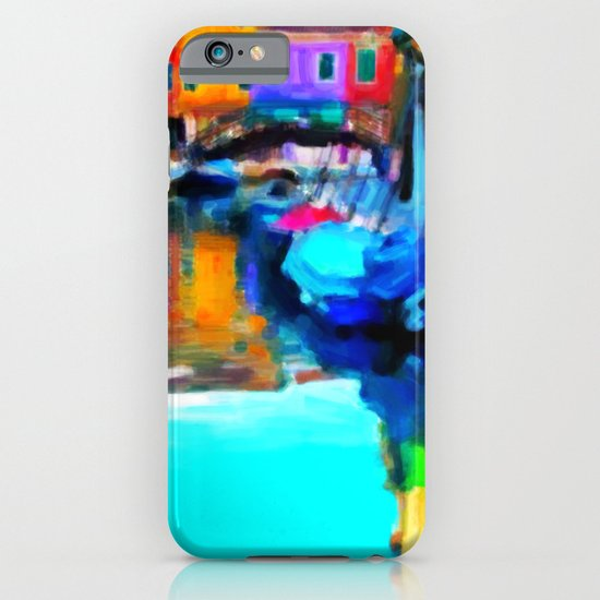 Colors In Venice - Painting Style iPhone & iPod Case