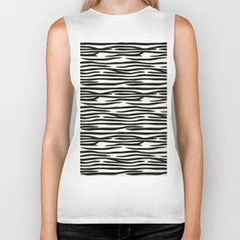 Zebra Stripes Biker Tank