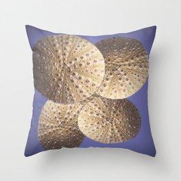 Organic Textured Egg Shell White Sea Urchin Shells Throw Pillow