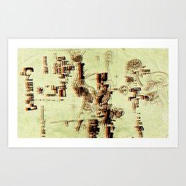 Illustration Mashup Art Print