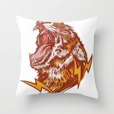 Tiger Shock Throw Pillow