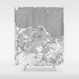 Edinburgh Map Line Shower Curtain