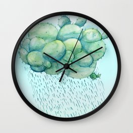 PRICKLY RAIN Wall Clock