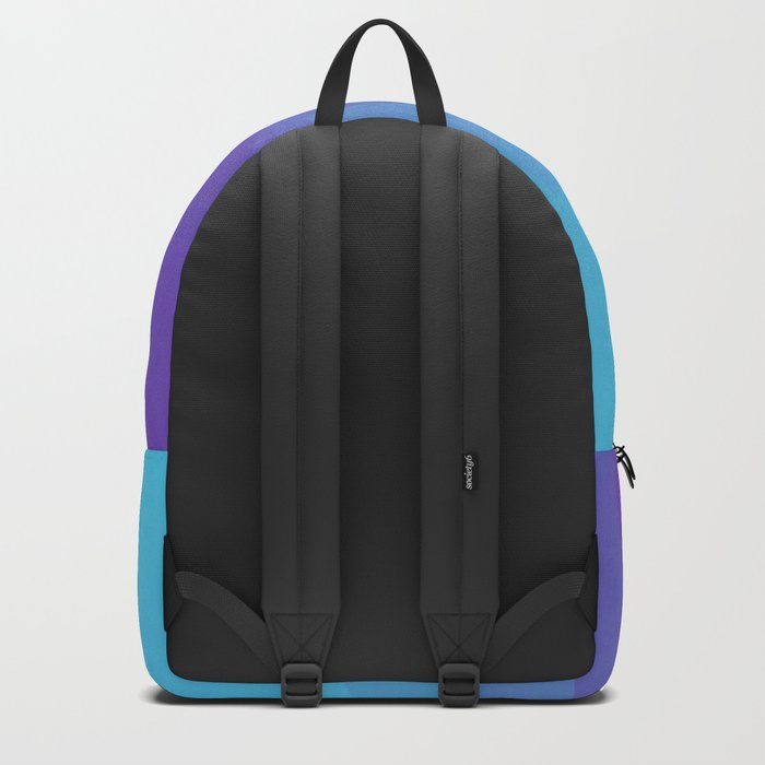 Purple Geometry Backpack