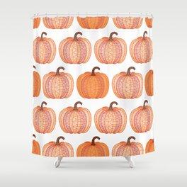 Patterned Pumpkin Shower Curtain