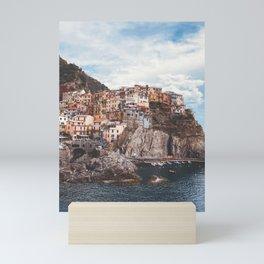 Cinque Terre, five lands, Manarola, Liguria, italian landscape, Italy love, UNESCO site, cliff village, sea villages Mini Art Print