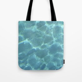 Turquoise Blue Water Tote Bag