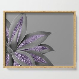 Agave Finesse Glitter Glam #4 #tropical #decor #art #society6 Serving Tray