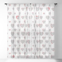 Made for you my heart 27 Sheer Curtain