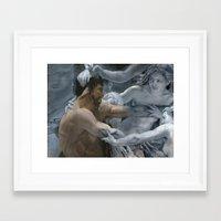 study Framed Art Prints featuring Study by oracio