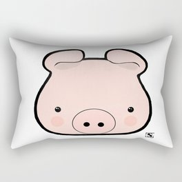 Piggy Kawaii Rectangular Pillow