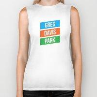greg guillemin Biker Tanks featuring Greg Davis Park by Parks of Seattle