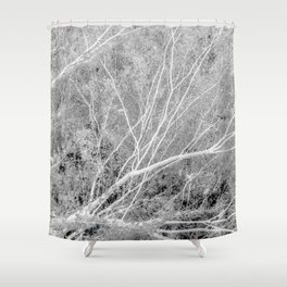Incandescence bw inv Shower Curtain