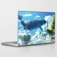 the whale Laptop & iPad Skins featuring Whale by Marta Milczarek
